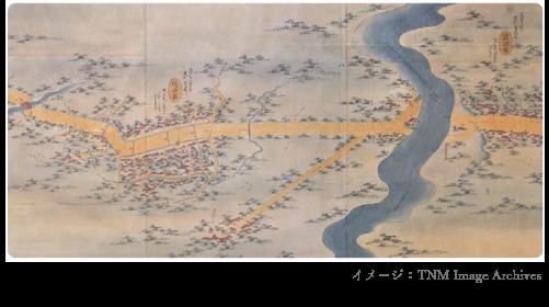 昔の川口宿イメージ