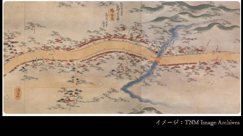昔の鳩ヶ谷宿イメージ